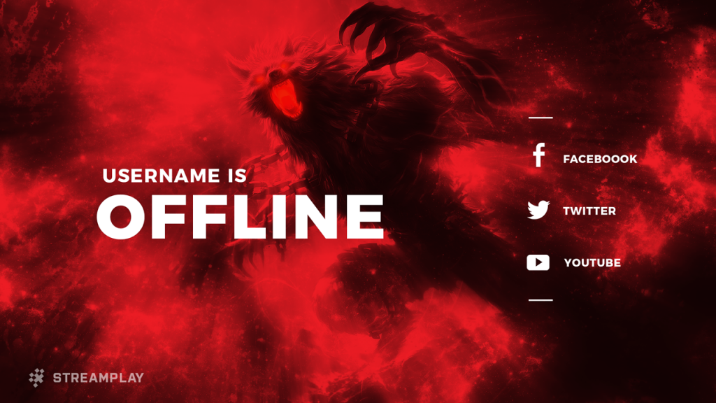 Custom Twitch Offline Banner Youtube Channel Art Twitch Twitch