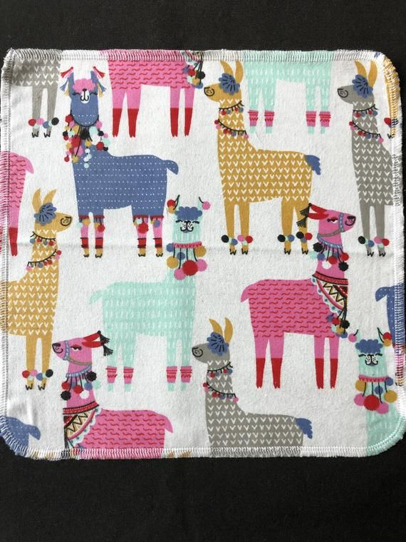 Llama Cloth Napkins, Reusable Napkins, Eco Friendly Napkins, Pack Of 6 Napkins, Bright Colors Napkin #clothnapkins