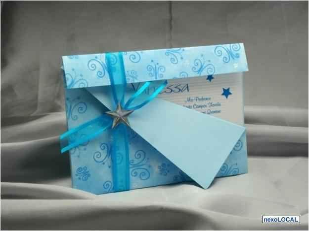 Tarjetas De Invitacion Para 15 Años Azules 7 Prendas