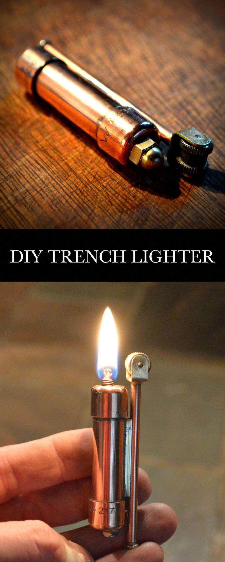 Make a Trench Lighter Trench lighter, Lighter fuel, Bic