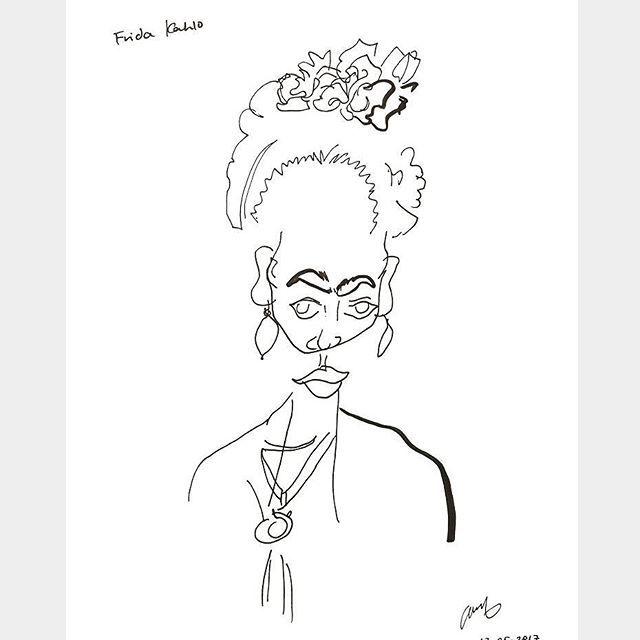 Frida Kahlo  Blind-contour drawing  Graphics pen + Brush pen    #frida #kahlo #fridakahlo #blindcontour #drawing #art #illustration #penonpaper #boahndesign #프리다칼로 #블라인드컨투어드로잉 #그림 #일러스트 #artprint