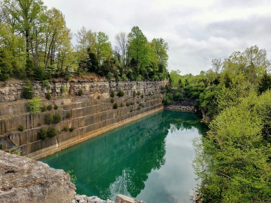 The now closed Empire Quarry near Bedford, Indiana, as it is