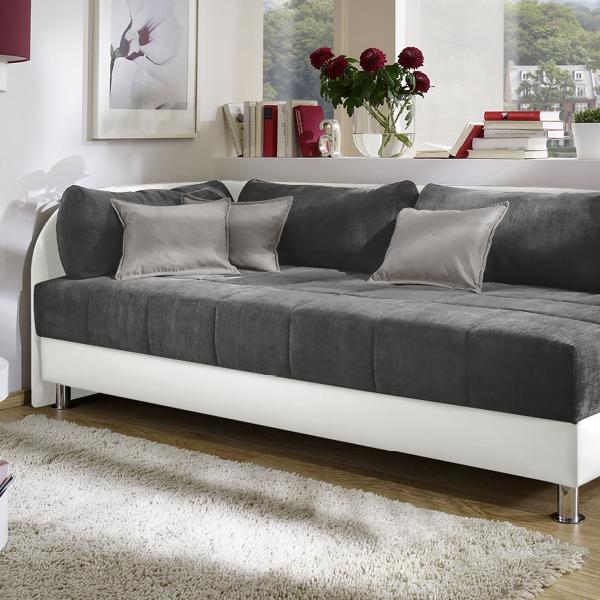 Studioliege Enea Polsterliege In 90x200cm Mit Bettkasten Couch Mobel Mobel Fur Kleine Raume Studioliege