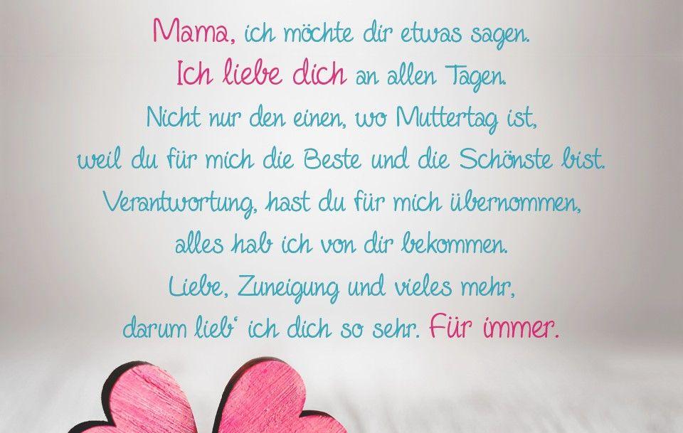 Liebevoller Muttertagsspruch