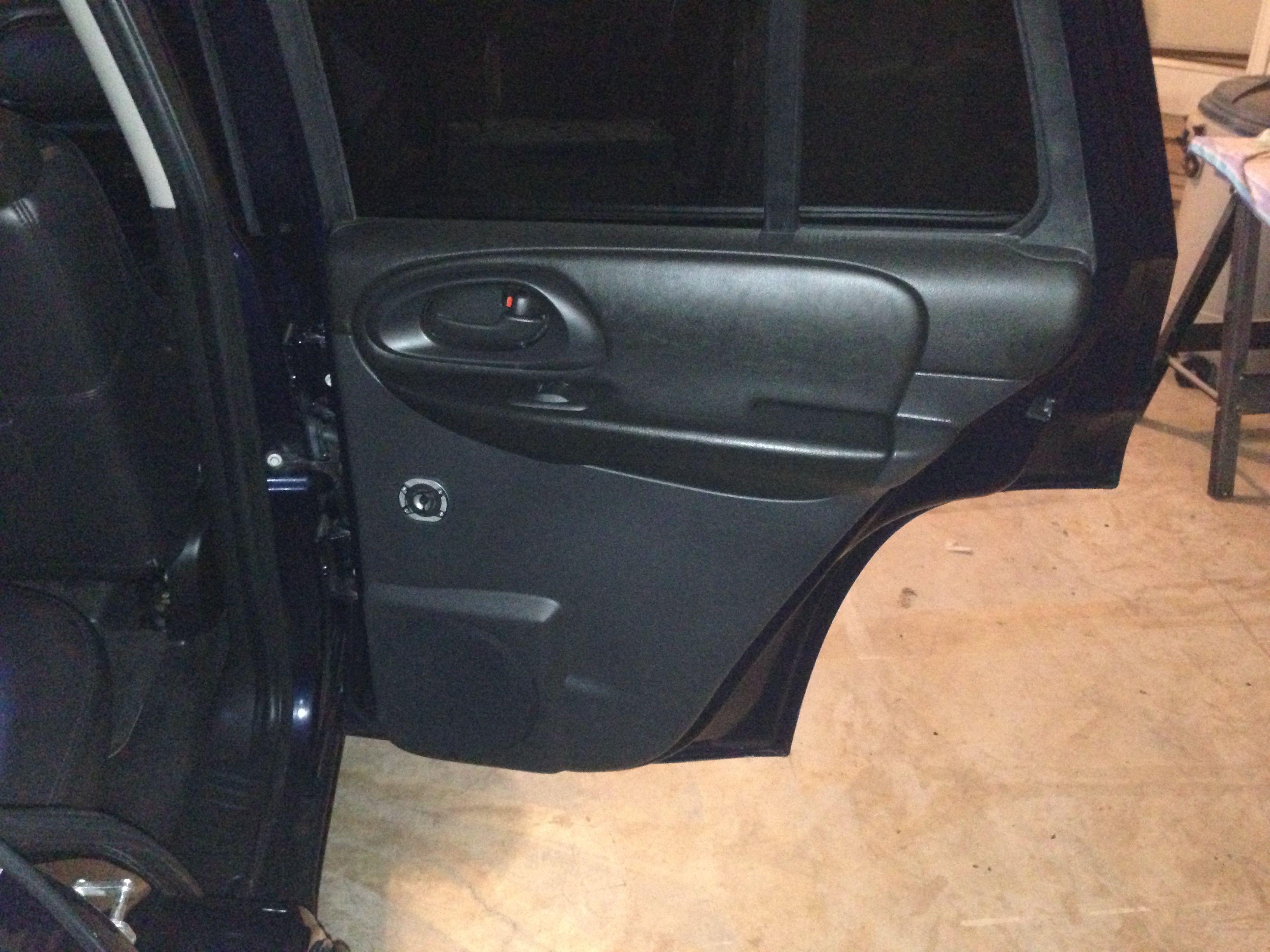Rear Door Panels Finished Trailblazer Ss Chevrolet Car Audio