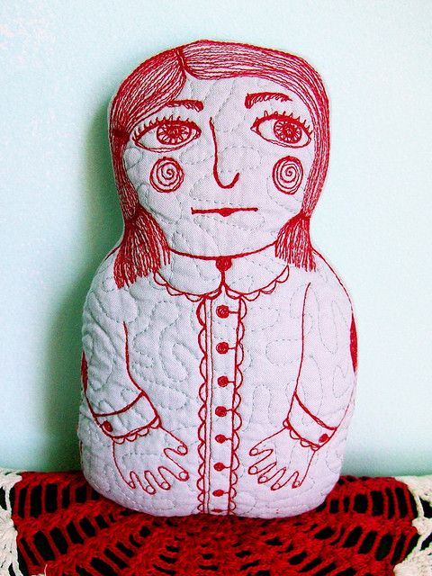Clair - Stitched and Quilted Art Doll by BooDilly's, via Flickr