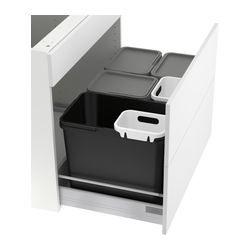 rationell abfalltrennung f schrank ikea home sweet home k che pinterest ikea. Black Bedroom Furniture Sets. Home Design Ideas