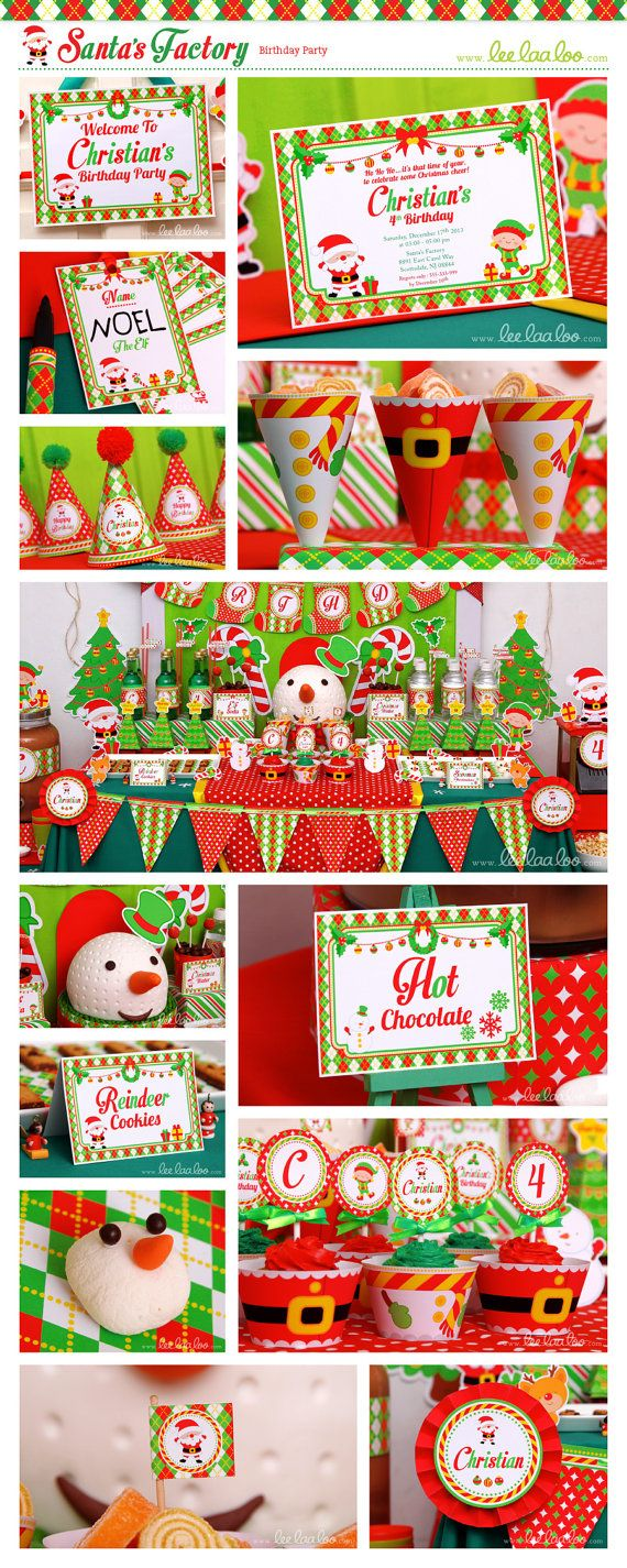 Santas Birthday Party Theme Shop Them Here httpswwwetsy