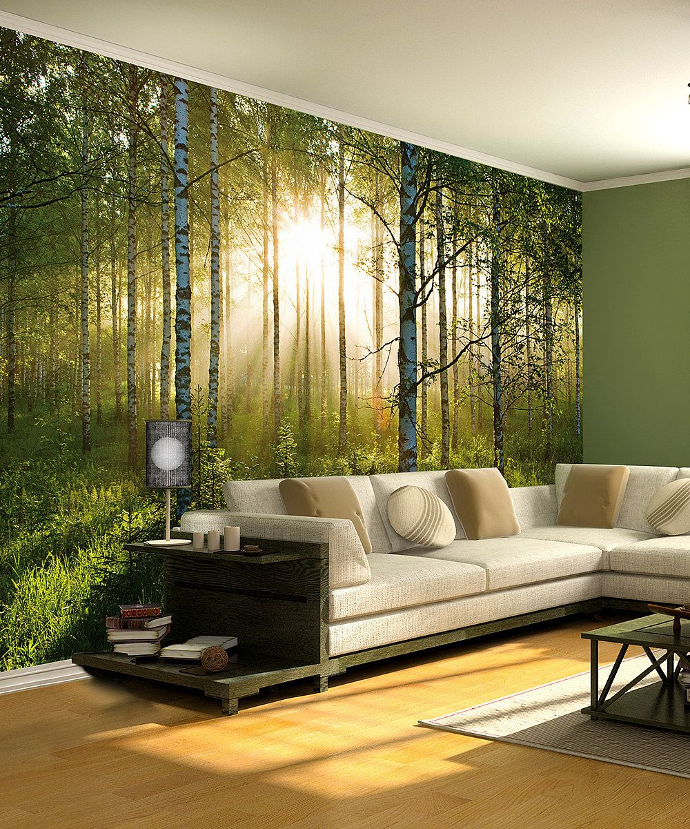 Verdant Forest Giant Stick-On Mural by Stick-On Murals | decorating ...