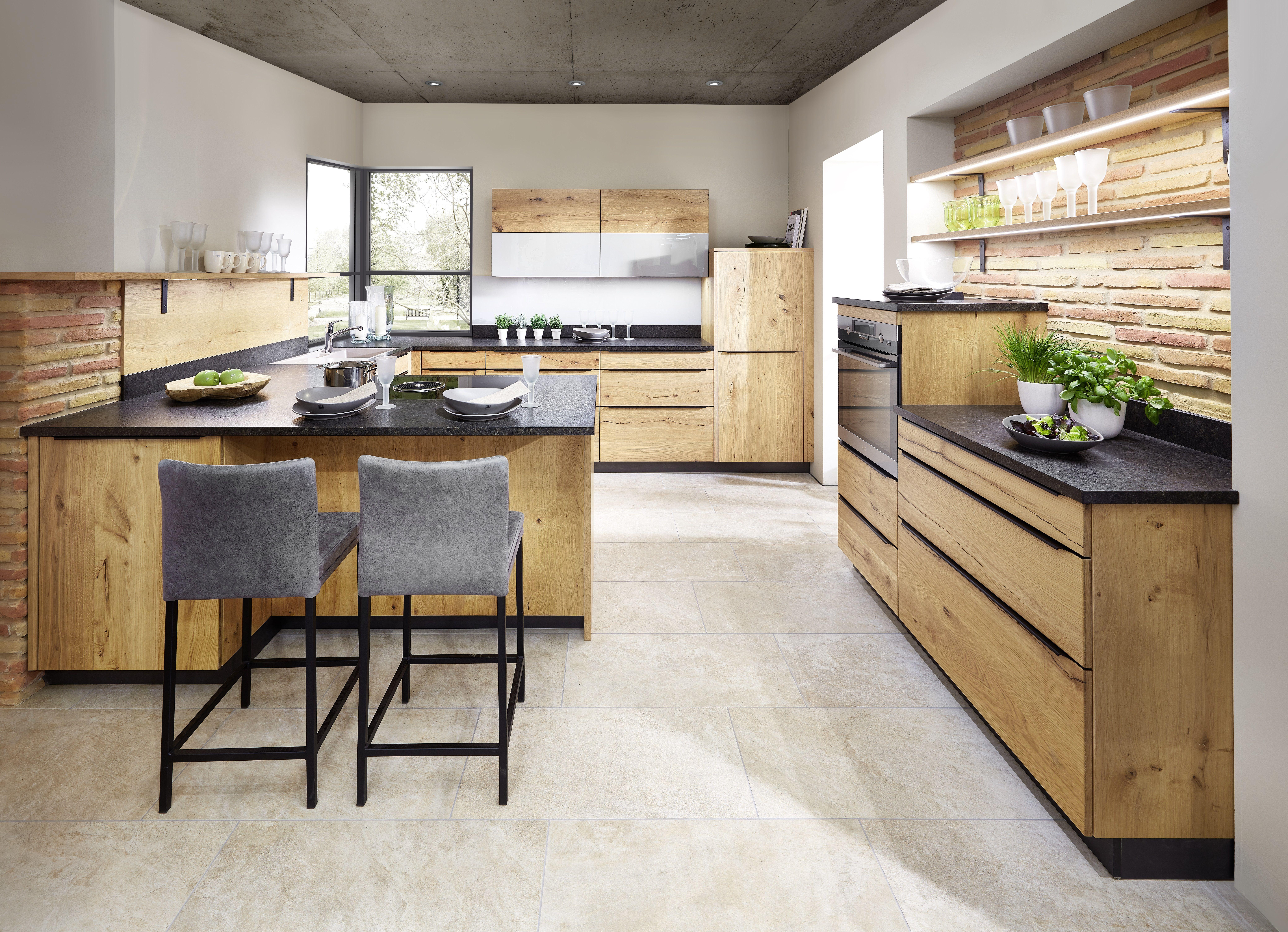 küche rom von h-design front in eiche-kernriss bianco geölt