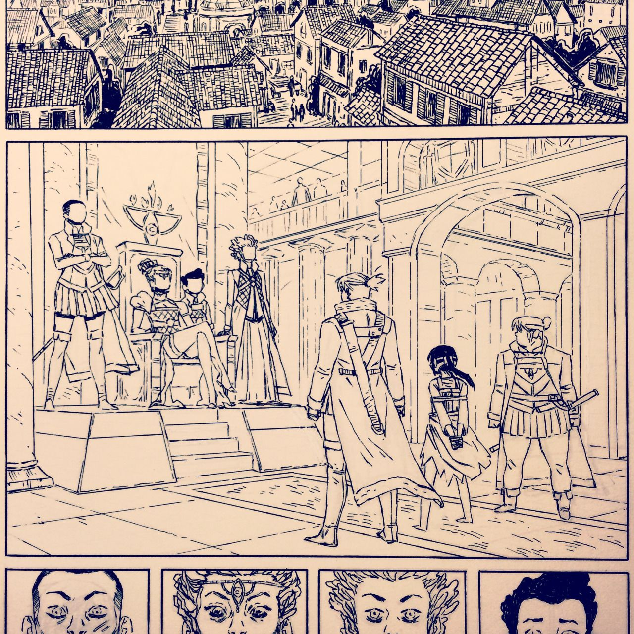 Necropolis - So. These are some snapshots of my inks from the...