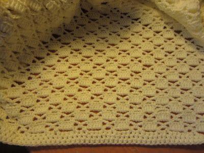 Lacy Crochet Lacy Chessboard Baby Blanket Crochet Knit