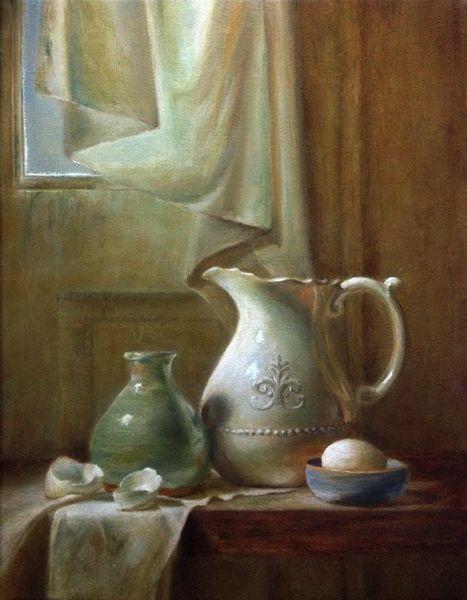 6 am  by LOIS EAKIN   Oil 18 x 14