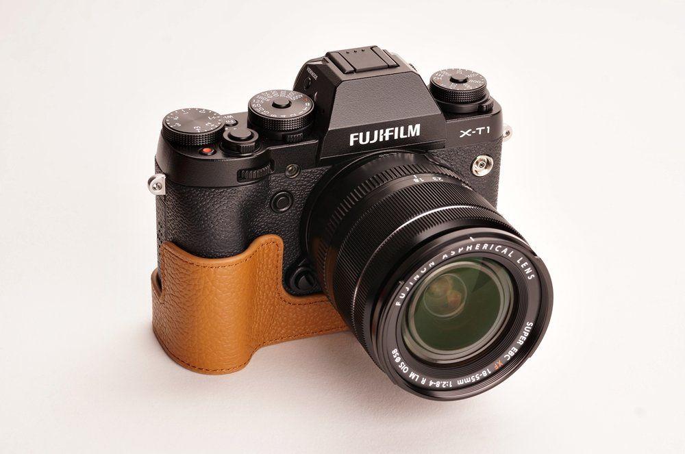 Handmade Genuine Real Leather Half Camera Case Camera bag for FUJIFILM X-T1 XT1 10 colors