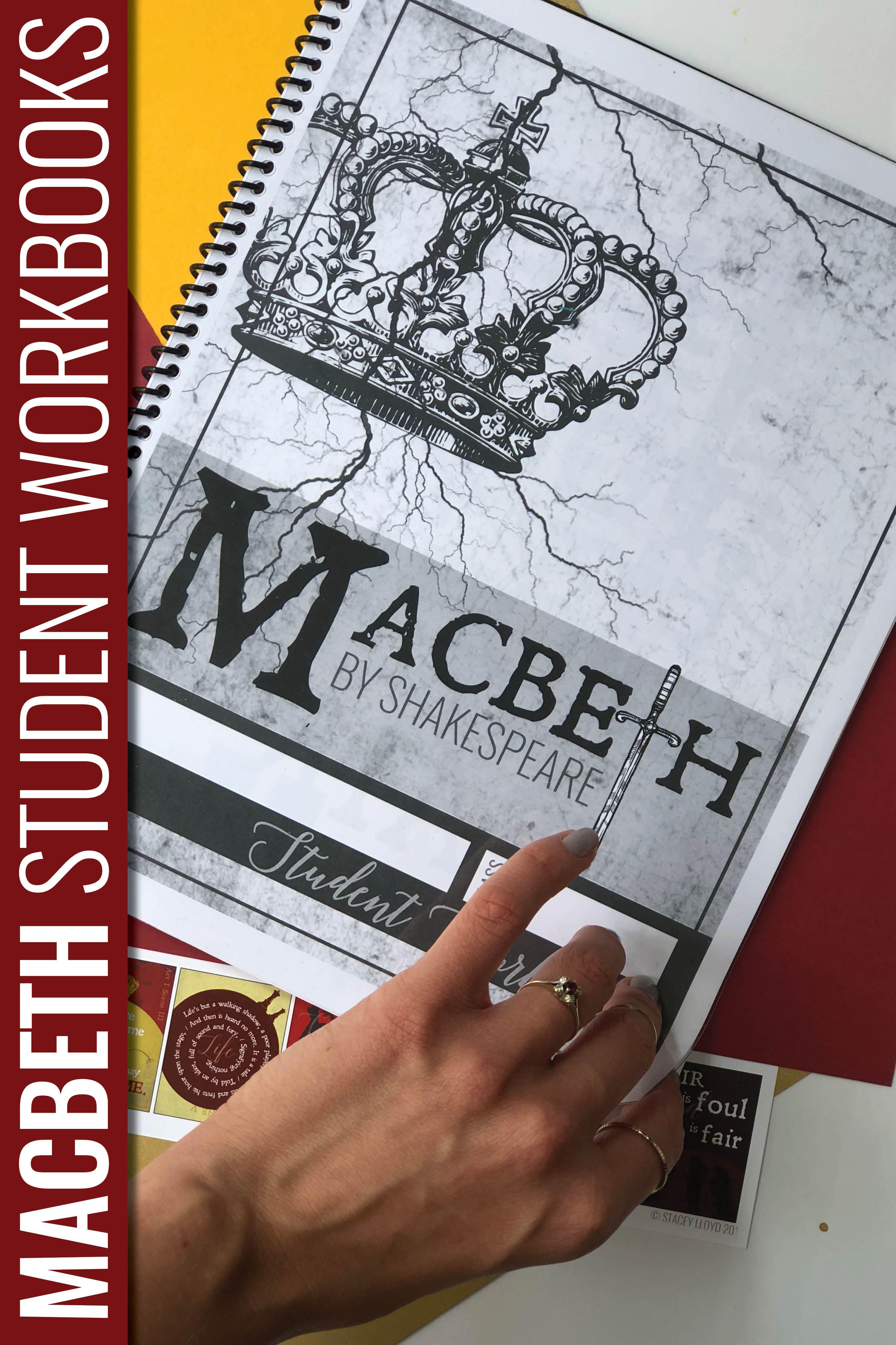 Macbeth By Shakespeare Student Workbooks Shakespeare Pinterest