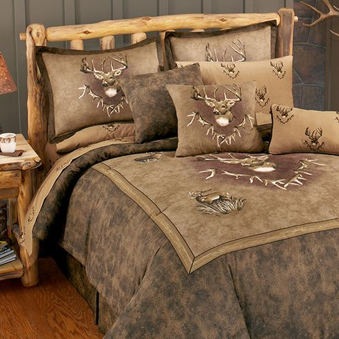 Whitetail Ridge By Blue Ridge Trading Is The Ideal Bedding Design For The Outdoorsman The Rich Warm E Comforter Sets Queen Comforter Sets Twin Comforter Sets