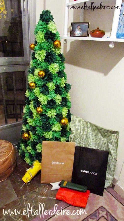 C mo hacer un rbol de navidad con cart n y papel seda - Arboles de navidad manualidades navidenas ...