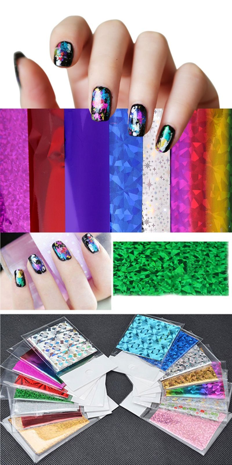 4cm 30cm Transfer Foil Nail Art Star Design Sticker Decal For Polish Care  DIY Free a0342f41ab18