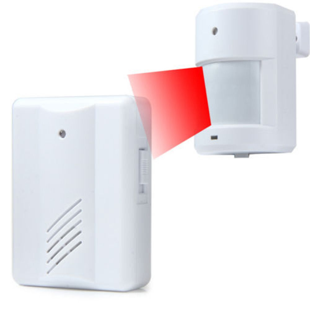 New Arrive 100m Infrared White Wireless Home Security Motion Gate For Door Detector Sensor Human Body Induction Doorbell Driveway Alarms