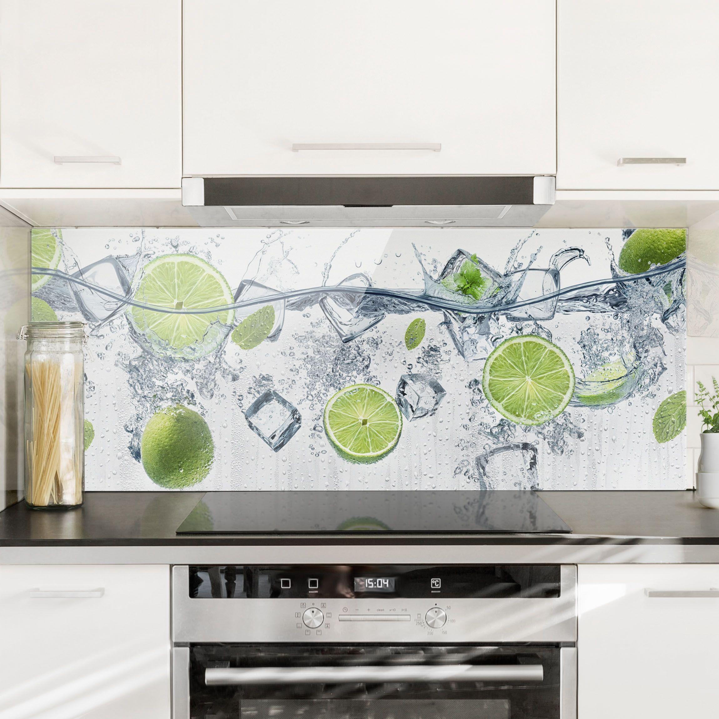 Spritzschutz Glas Erfrischende Limette Panorama Küche Spritzschutz Glas Spritzschutz Küchen Möbel