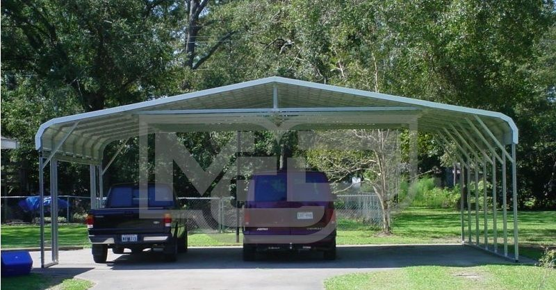 Types And Advantages Of Triple Wide Carports With Flexible Vehicle Storage Option Carport Car Canopy Metal Buildings