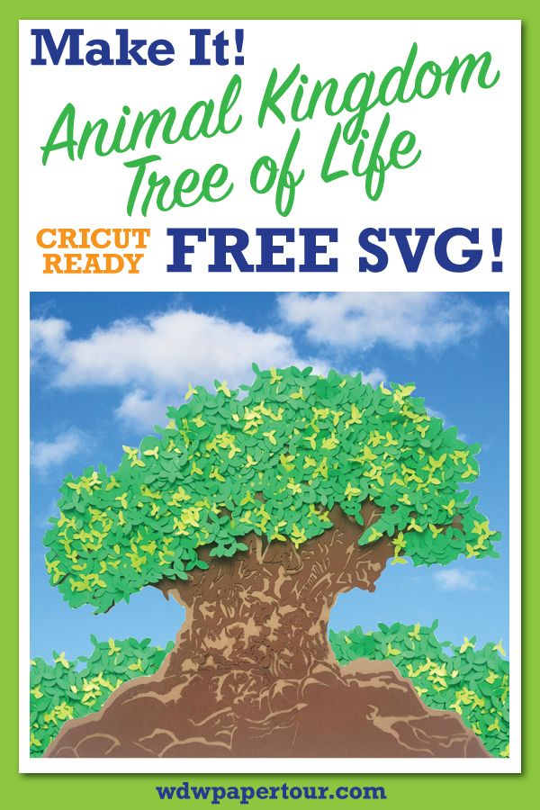 Tree of Life Paper Art from Animal Kingdom with Free SVG