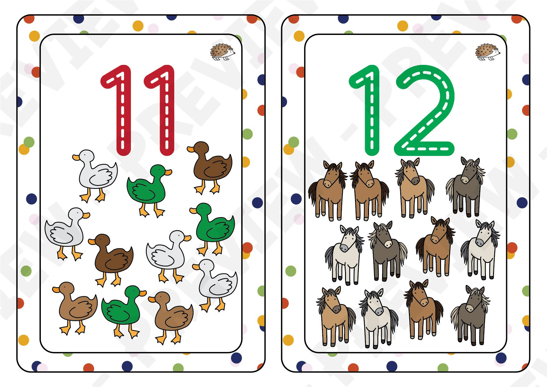 Number Flashcards 1 To 20 With Images