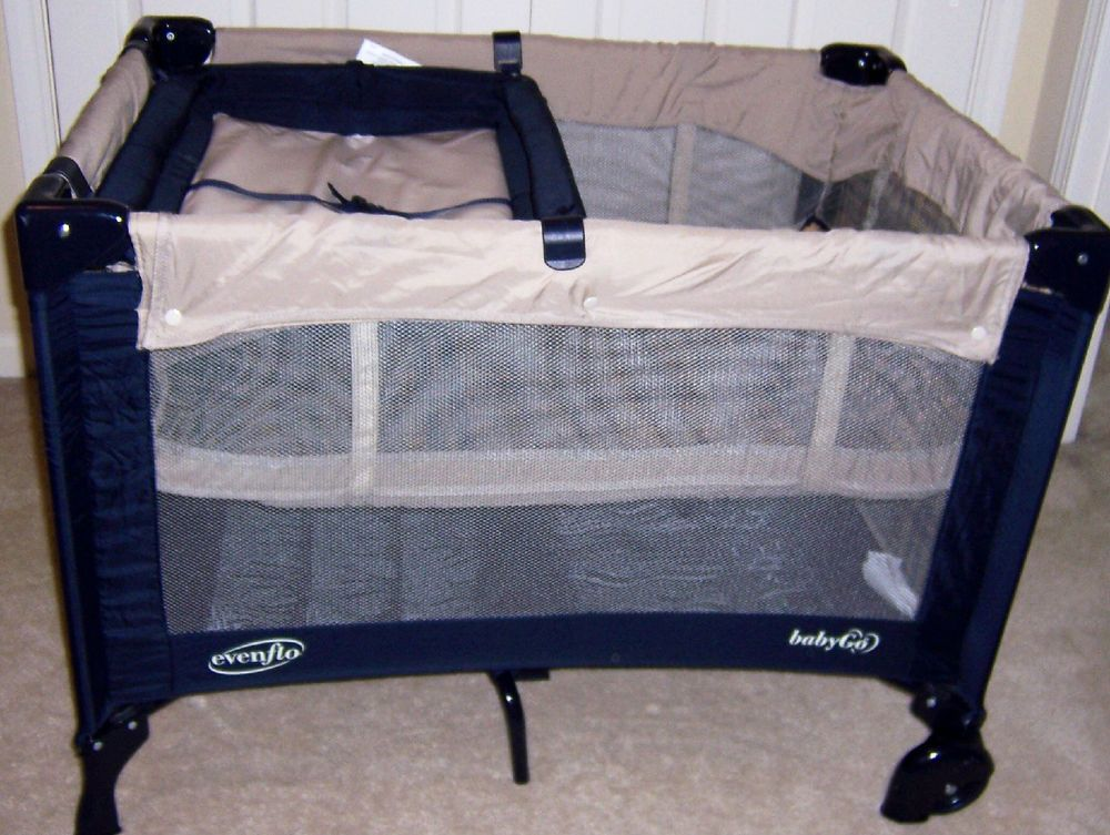Evenflo Baby Go Portable Playard Playpen With Full Bassinet Changing Table  #Evenflo