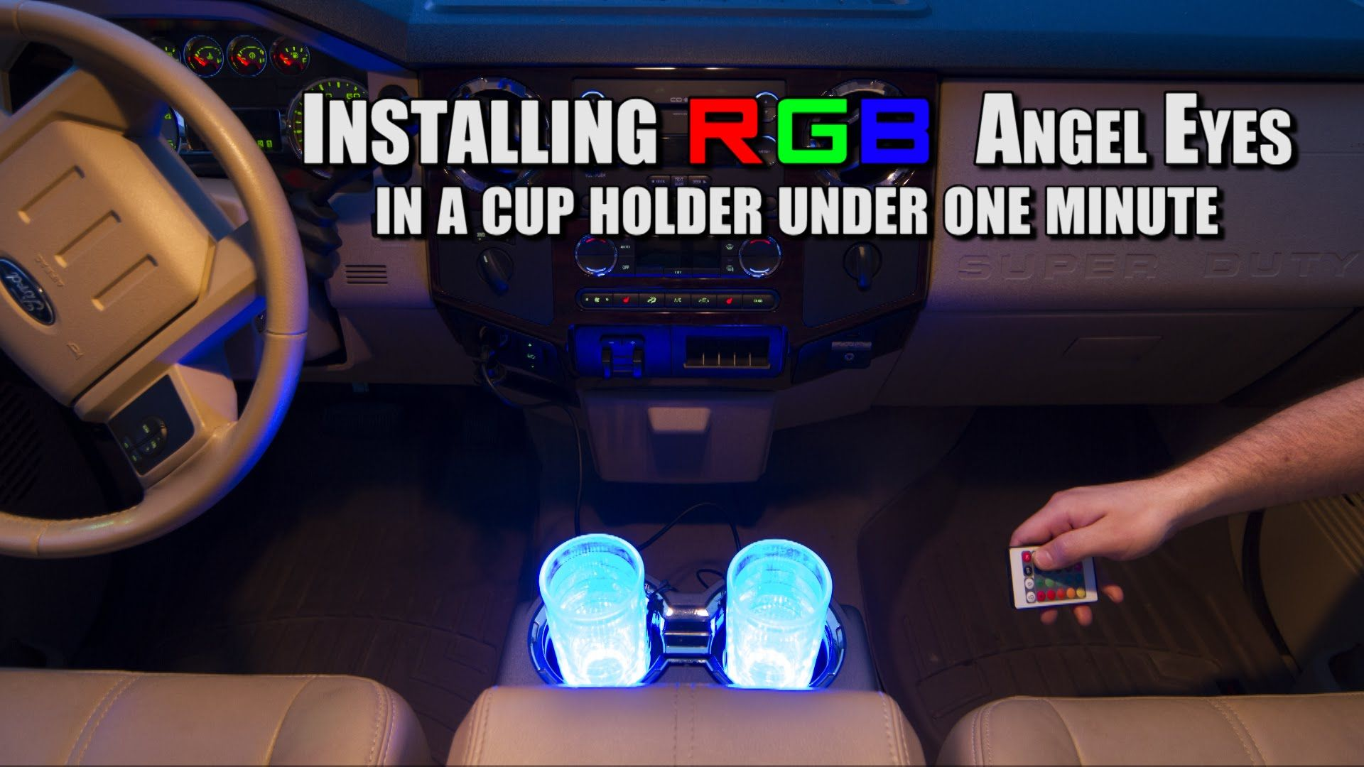 How to Install LED Cup Holder in Under 60 Seconds - superbrightleds ...