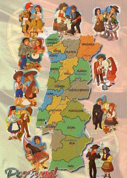 mapa de portugal para crianças Portugal | Mappe / Maps | Pinterest | Portugal mapa de portugal para crianças