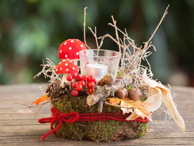 Tischdeko Herbst Tischdekoration Herbstdekoration von Missbellflower auf DaWanda.com #herbsttischdekorationen
