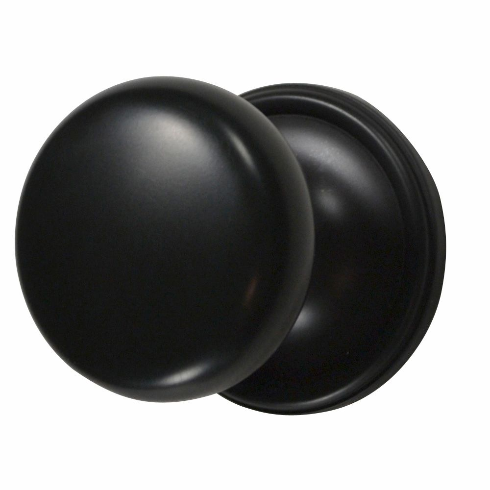 Traditional Round Brass Door Knob (Oil Rubbed Bronze Finish ...