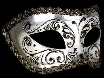 How To Decorate A Mask For A Masquerade Ball Decor Era Masquerade Mask  Silver White  Masks Corsets