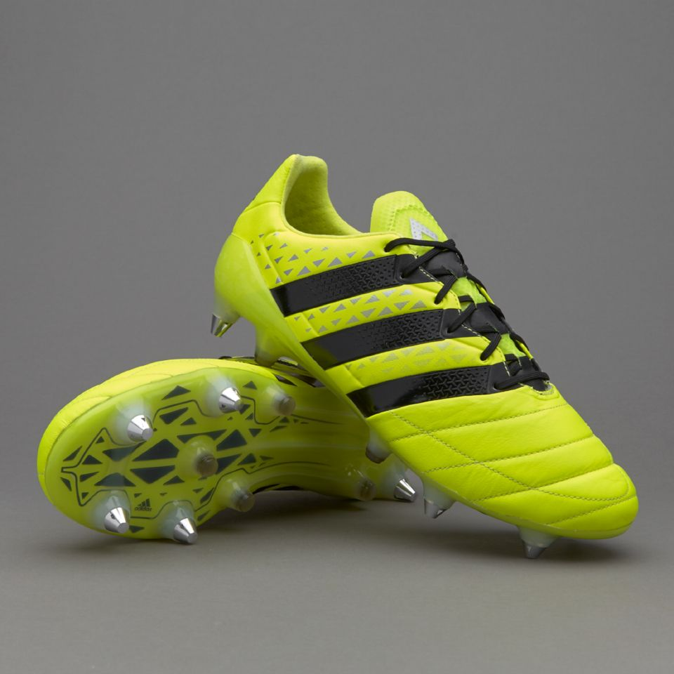 adidas ACE 16.1 SG Leather - Solar Yellow/Core Black/Silver ...