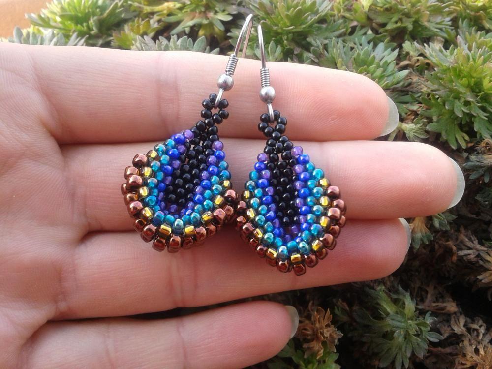 Peacock feathers by Handmade_jewelry_KaM - SAShE.sk - Handmade Earrings