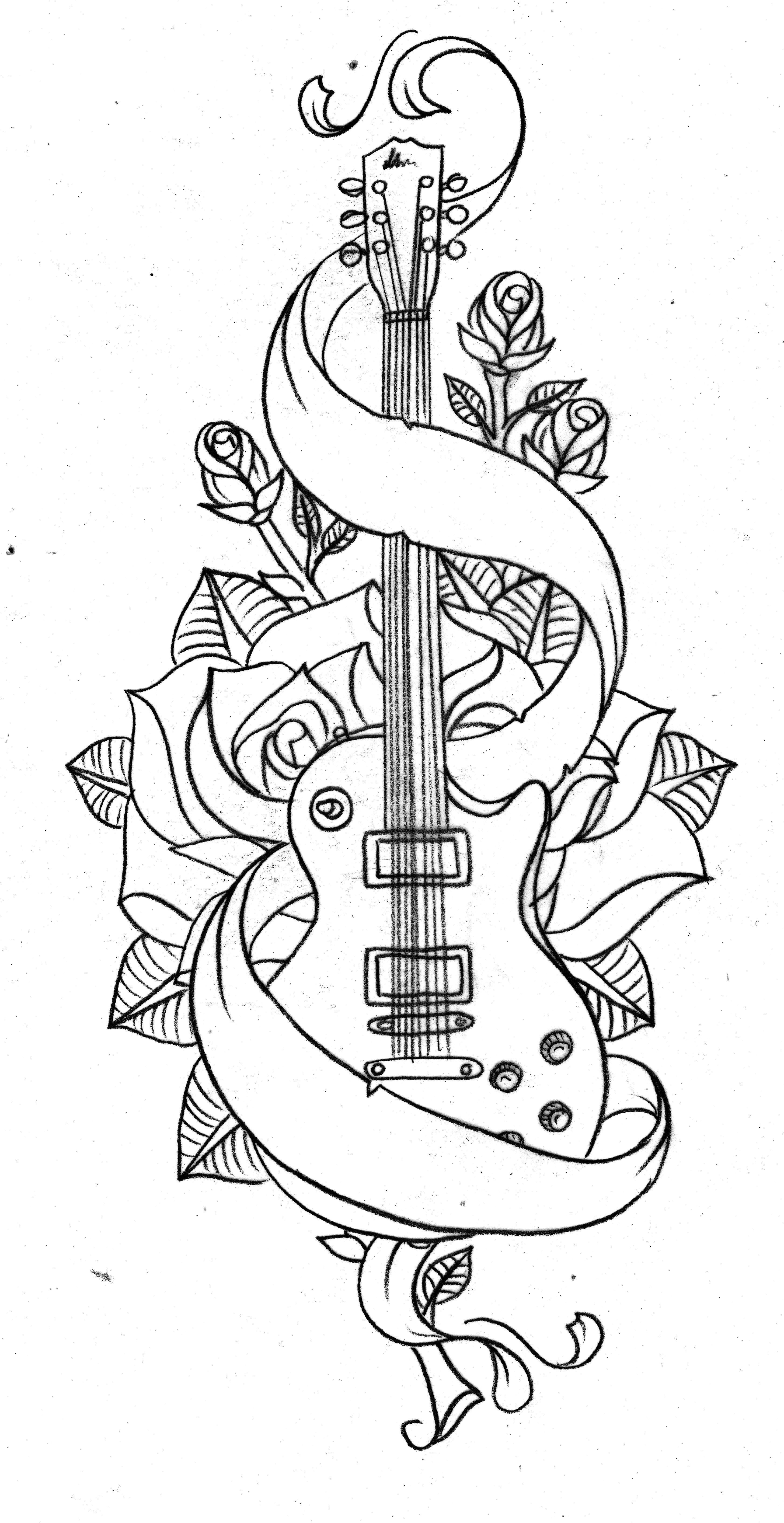Loveeeeguitarr Desenhos De Tatuagem De Musica Tatuagem