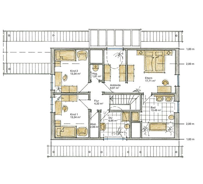 Badezimmer planung grundrisse 149 best grundrisse images for Bester grundriss haus