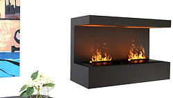 Prime 3 Sided Electric Fireplace Most Realistic Flame Effect Download Free Architecture Designs Rallybritishbridgeorg