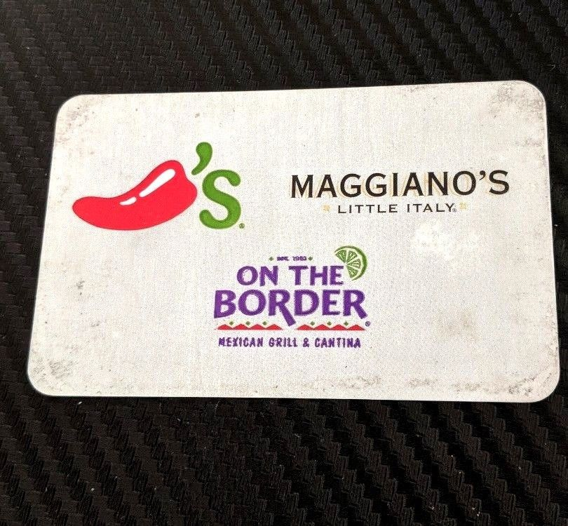 50 gift card works at chilis maggianos on the border