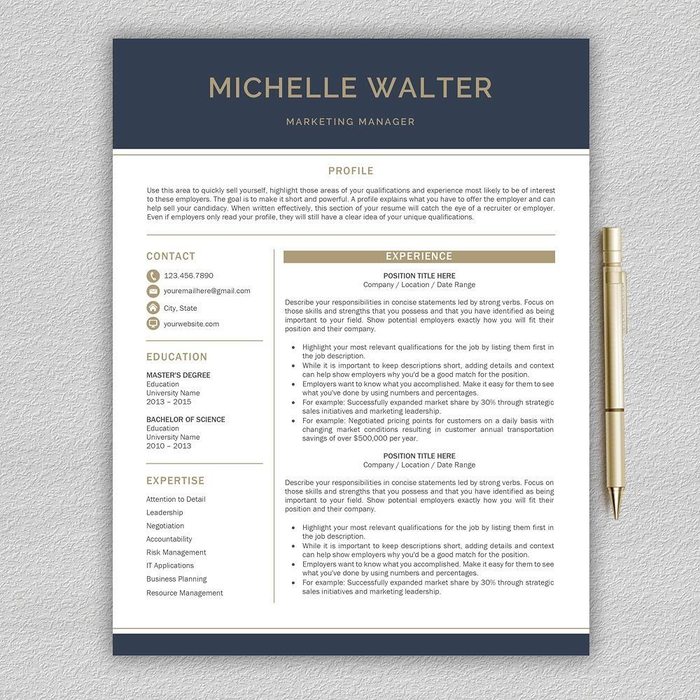 Resume Template | CV Template by Pro.Graphic.Design on ...