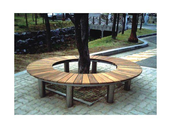 Outdoor Park Bench,Wood Round Tree Bench,Round Tree Bench BH14804 .