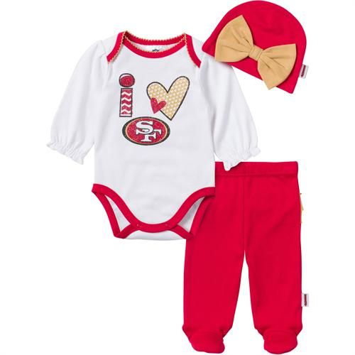 bcd31641d19 I Love the 49ers Baby Girl Outfit | San Francisco 49ers Baby | Girl ...