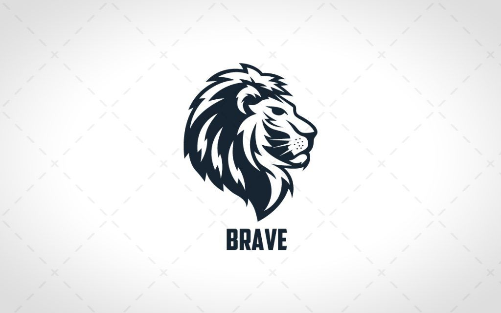 lion logo lions logos lion head logo brave animal crown