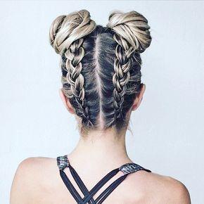La tresse inversée se porte aussi en double pour l es plus audacieuses d'entre nous ! ✨ Que pensez-vous de cette coiffure ?! ❤️