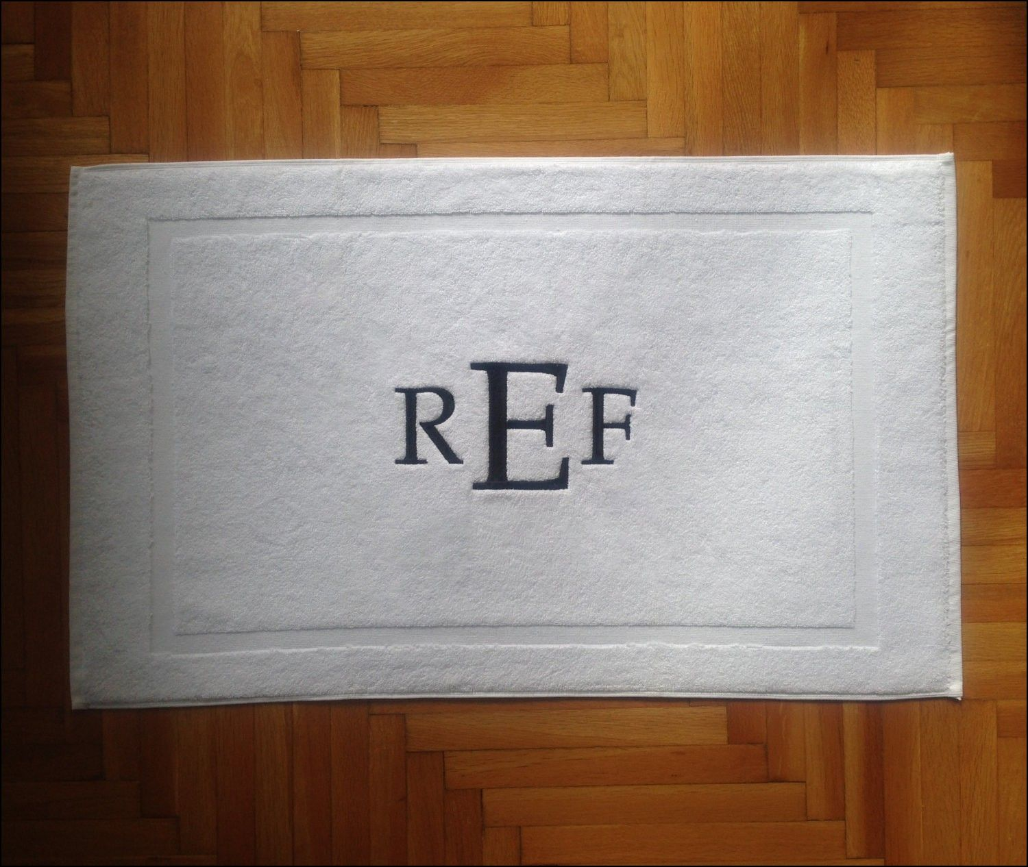 Monogrammed Bathroom Rugs