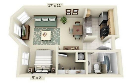 Diseños de departamentos pequeños Mi casa de campo Pinterest - departamento de soltero moderno pequeo