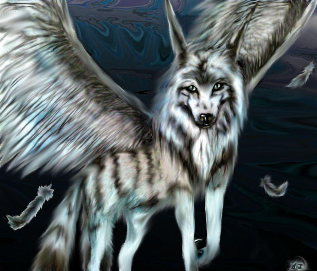 как фото человека волка с крыльями моральном облике