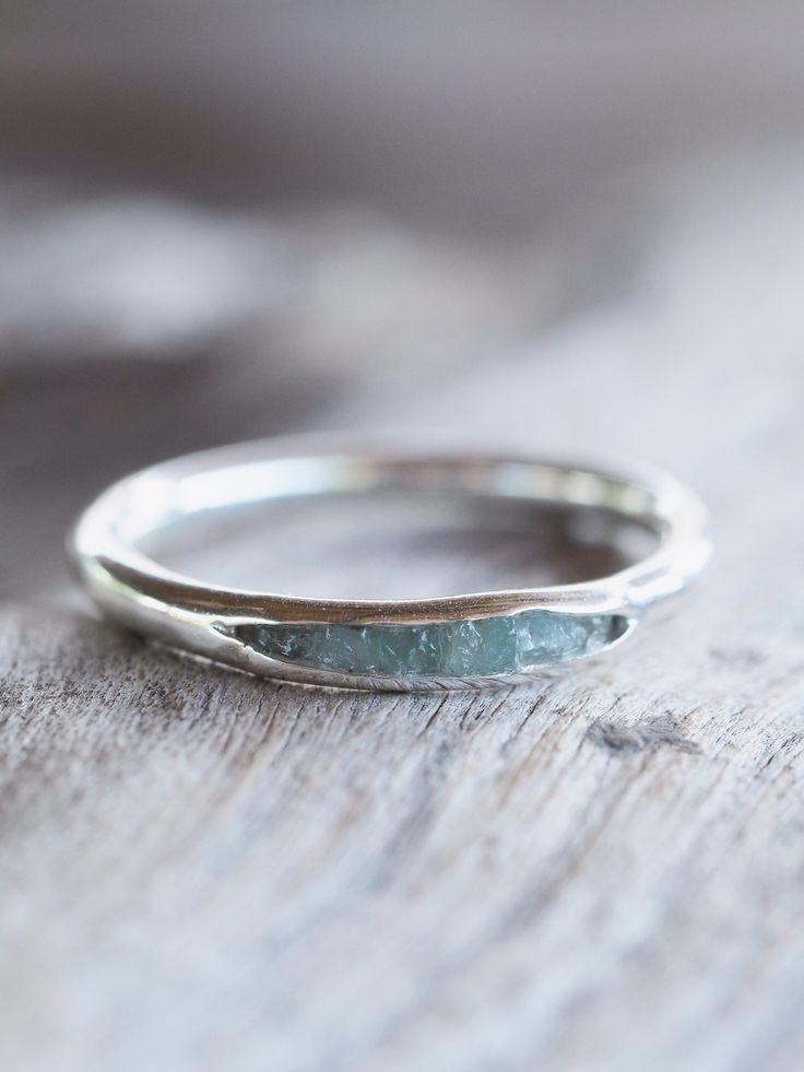 Photo of Aquamarine Ring with Hidden Gems
