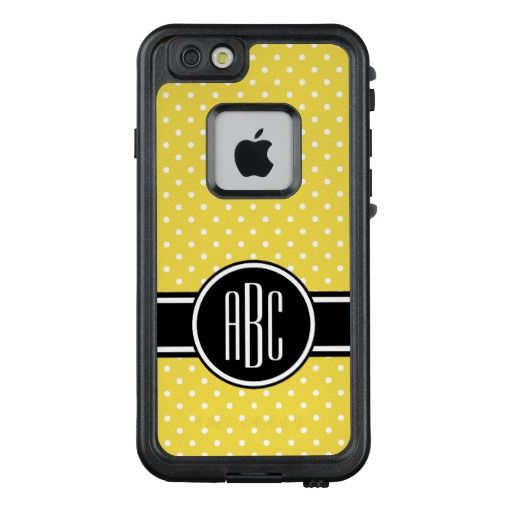 Create Your Own White Tiny Polka Dot Monogram LifeProof® FRĒ® iPhone 6/6s Case