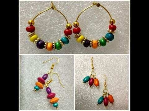 Diy Beaded Earrings Daily Wear How To Make Handmade Bead Making At Home You